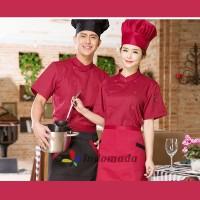 Seragam Baju Koki Chef Profesional Chef Apparel Unisex Pria Wanita
