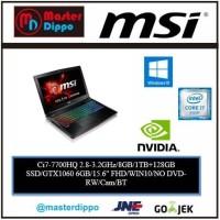MSI GP62MVR 7RFX-1055XID - Ci7-8GB-SSD-GTX1060-15INCH-WIN10 - BLACK