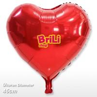 Balon Foil Hati Merah   Balon Love 40cm
