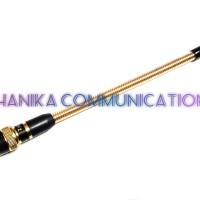 Sky2 Antena HT Helikal Kuning VHF BNC Male Alinco DJ-195 DJ-196 Gold
