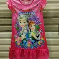 Daster terusan dress anak Elsa Frozen murah