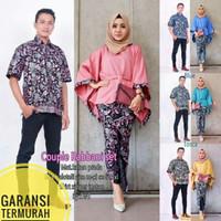 BATIKJAZZ - Couple Batik Lowo Rabbani Set,Batik couple, baju couple