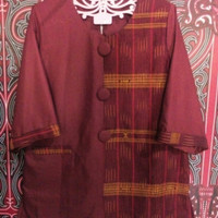 baju etnik sumut /ulos simalungun kombinasi / atasan wanita