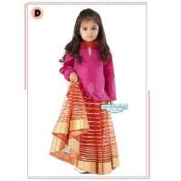 Baju India Anak Perempuan Pakaian Setelan Anak Tema India Warna Pink