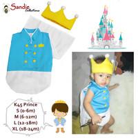 Baju Bayi Jumper Karakter Stelan Kostum Topi Lucu pangeran prince