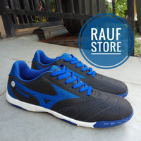 Sepatu Futsal Mizuno Neo Shin Murah Hitam list biru