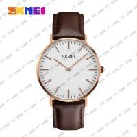 Jam Tangan Pria Analog SKMEI 1181 Brown Leather Water Resistant 30M