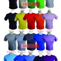 Kaos Polos Combed 20s Dewasa Jumbo Size 3XL ~ 4XL