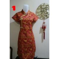 Baju Imlek Anak Cewe Dress Sincia Cheongsam Chongsam Congsam Motif 1