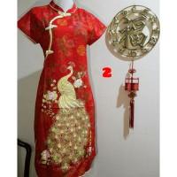 Baju Imlek Anak Cewe Dress Sincia Cheongsam Chongsam Congsam Motif 2