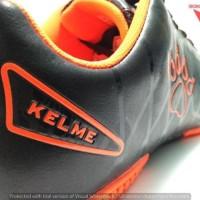 imc supplier SEPATU FUTSAL - KELME  STAR 9 BLACK/ORANGE ORIGINAL