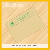 Cetak Amplop Folio Coklat - Cetak 1 Warna - Ukuran 24x35cm