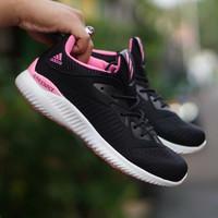 sepatu casual running adidas alphabounce hitam pink cewek woman wanita - Hitam Pink, 37