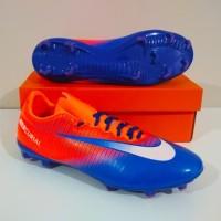 MURAH BERKUALITAS Sepatu Bola NIKE Mercurial Vapor FG (Blue Orange)