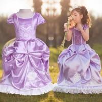 KOSTUM DRESS BAJU SOFIA THE FIRST / Jual Dress Anak Sofia Ultah Anak