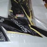 Striping Lis Bodi & Stiker Body Satria Fu Fi 2016 Injeksi Full Hitam