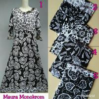 Gamis rayon murah / longdress batik / baju menyusui / daster maura