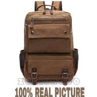 tas ransel impor backpack keren bahan kanvas berkualitas unisex