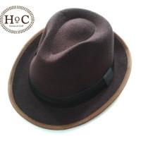Houseofcuff Topi Fedora Hat BROWN FEDORA HAT LAKEN