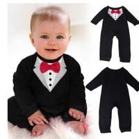 Baju Anak Laki Jumper Romper Baby Kostum Jas Tuxedo Impor AF KID BC 01