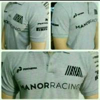 kaos pria kerah baju polo Pertamina Manor Racing M L XL XXL murah