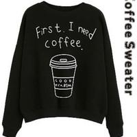 sweater kopi hitam baju jacket blouse wanita jaket kids jaman now