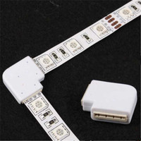 Konektor Lampu Led Strip L-Shape 4 Pin 10mm 5050