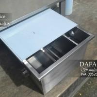 Grease Trap Sink SS 304 Bak Kontrol Kecil Ukuran 400 x 300 x 250 (mm)