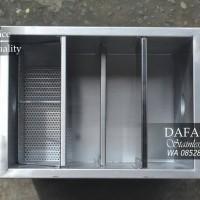 Grease Trap Sink Stainless 400 x 300 x 300 Bak Kontrol Minyak Dapur
