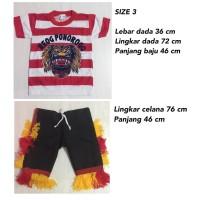Size L - Setelan Baju Reog Ponorogo Anak - BAJU REOG PONOROGO