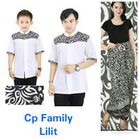 couple family baju koko bapak anak rizky kombi rok lilit jumbo batik