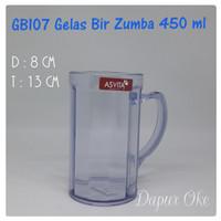 Gelas Bir Plastik Zumba Asvita GB107 / Gelas Gagang
