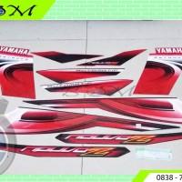 Striping Stiker Sticker Yamaha Nouvo Z Nouvo-Z 2006 red merah metallic