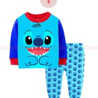 (2-7T) Piyama Anak Junior Wardrobe JW 33 I Stitch Blue