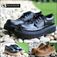 Sepatu Black Master UnderGround Low Boots Pendek Kulit Pria Original