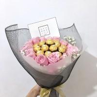 Bouquet Bunga/ Ferrero Rocher / Chocolate / Valentine/ Hadiah