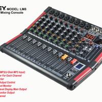 Audio mixer Ashley LM 8 LM8 efek 99dsp 8 channel USB dan Bluetooth
