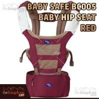 Baby Safe BC005 Baby Carrier Hip Seat Red Gendongan Anak Bayi