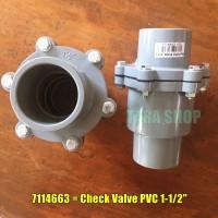 CHECK VALVE 1-1/2 INCH PVC KDJ - 7114663