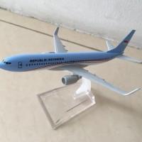 Miniatur Diecast Pesawat Terbang RI 1 Republik Indonesia Bahan Besi