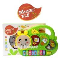 Mainan Piano Anak - Caterpillar Music Elf Piano Animal Light