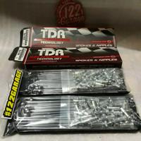 jari-jari TDR chrome untuk velg standar rxking rxk ring 18 sepasang