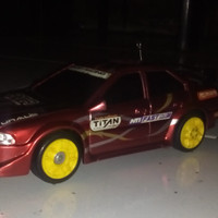 mobil rc drift auldey RED skala 1:24 + batery dynamax 8pcs