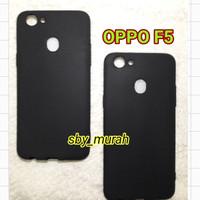 Case Oppo F5 Hitam Softcase Black Matte Case