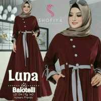 luna maxi dress muslim/ gamis murah / grosir baju hijab