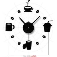 Jam Dinding Model Cangkir Kopi Cafe Dekorasi Giant Wall Clock 40-70cm
