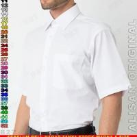 Kemeja ALISAN ORIGINAL B2-14 Baju Kerja Cowok Putih