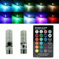 Lampu Led Senja T10 RGB + Remote
