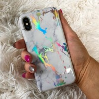 MARBLE HOLOGRAM CASE IPHONE OPPO