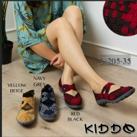 Kiddo f 205-35 sepatu anyaman rajut wanita flat